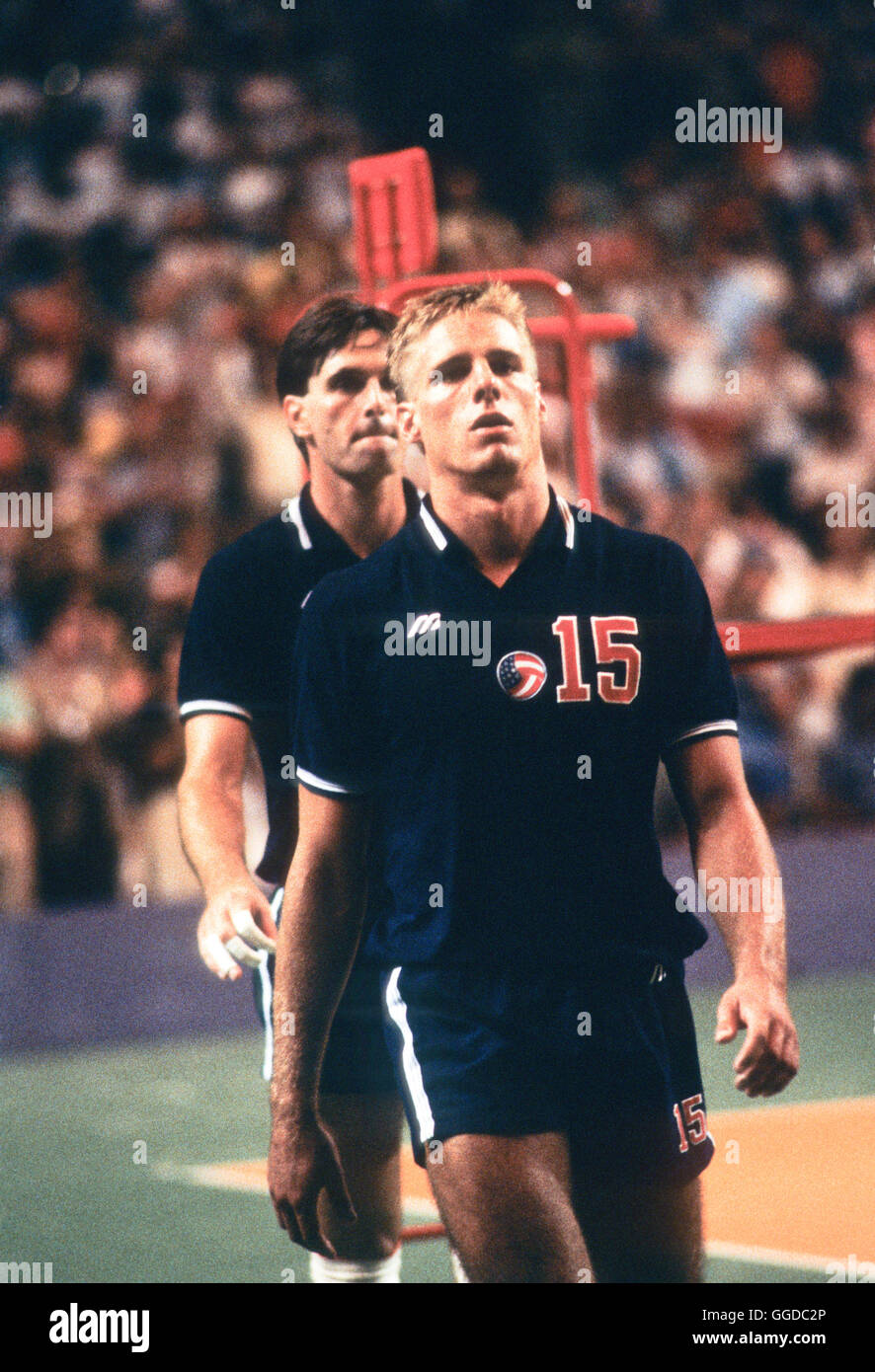 usa 15 karch kiraly mens 1984 olympic volleyball team stock image