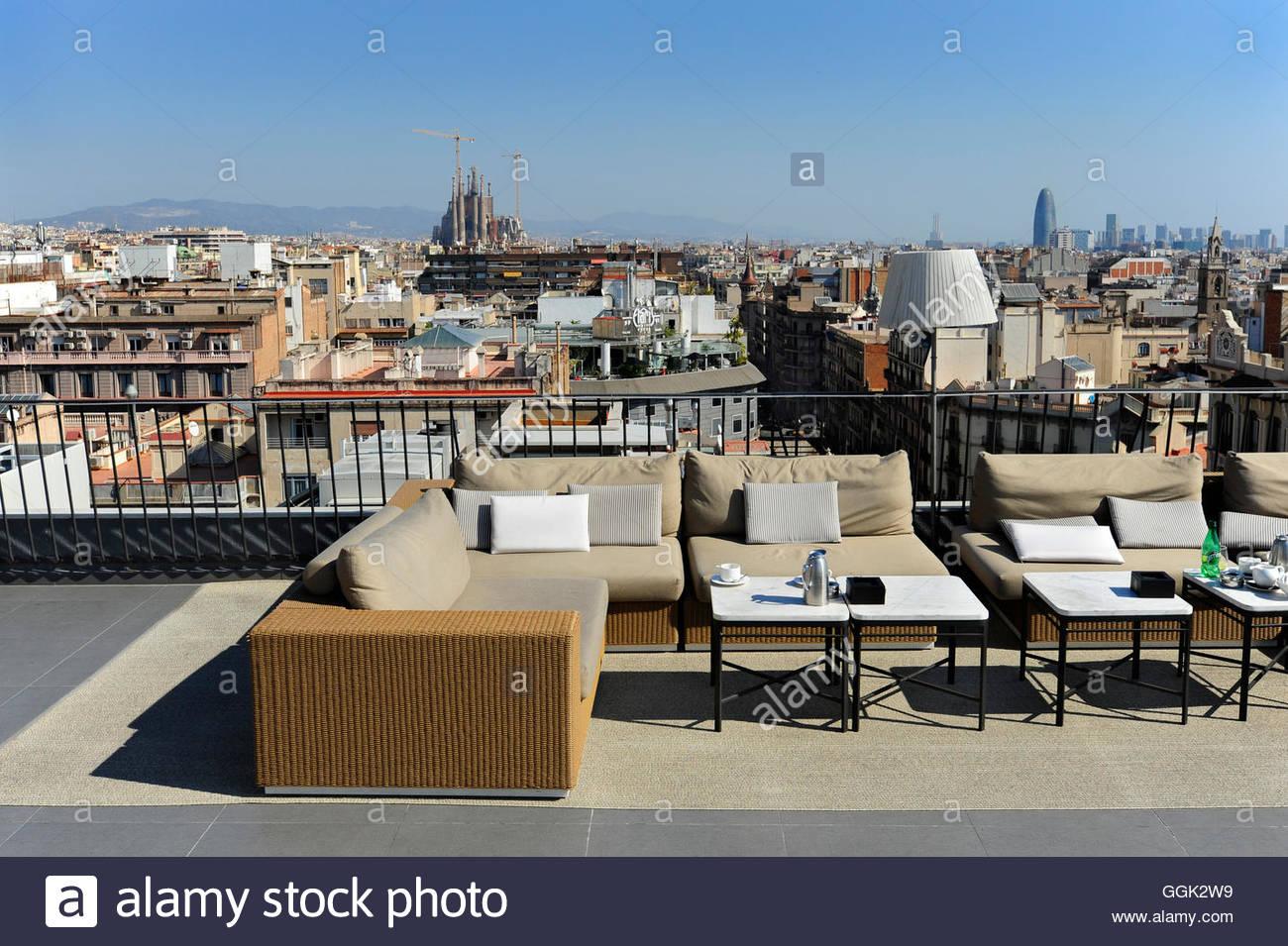 rooftop bar majestic hotel passeig de gracia eixample barcelona catalonia spain