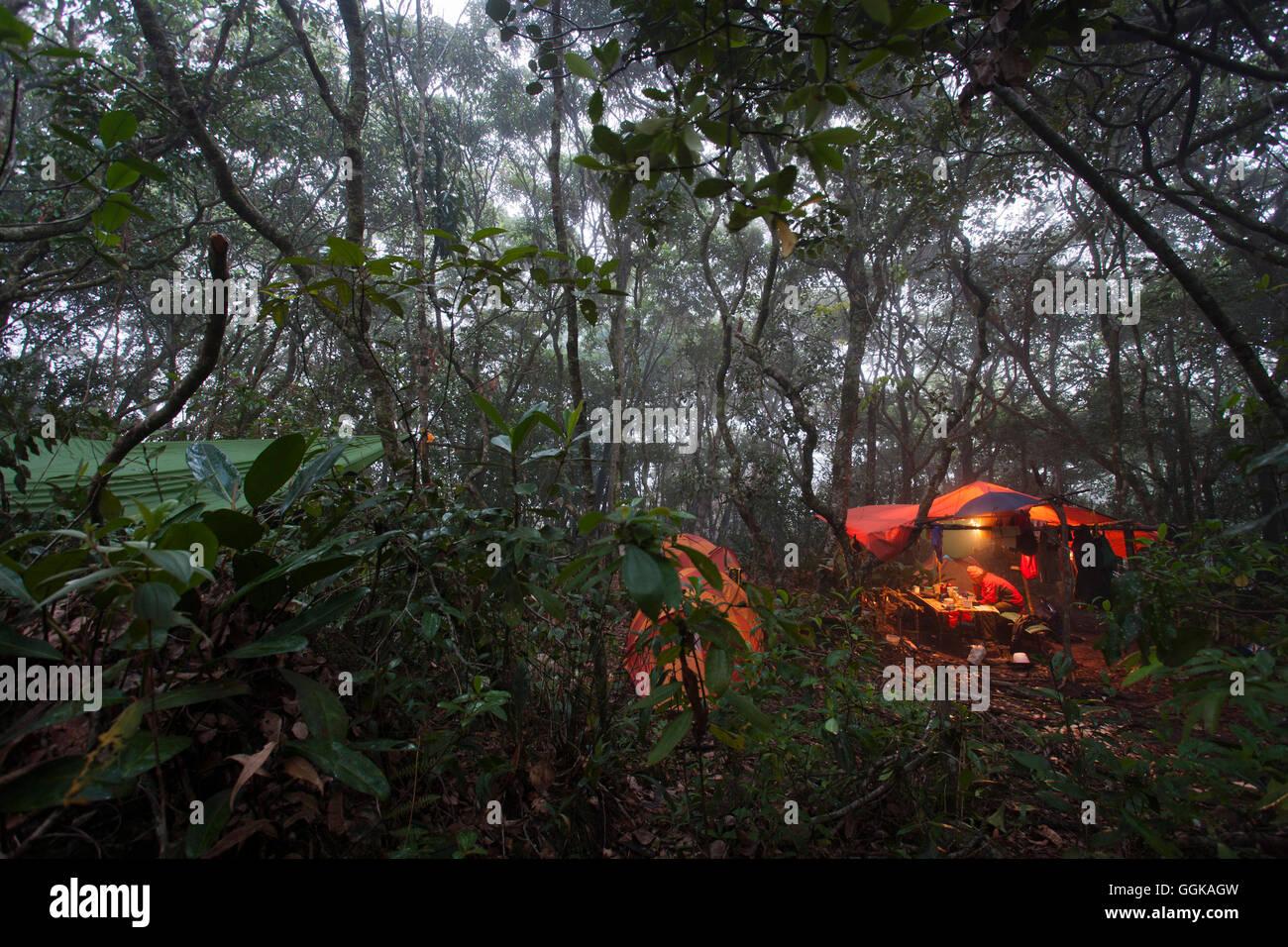 C& in the jungle Acopan Tepui La Gran Sabana Bolivar Venezuela & Camp in the jungle Acopan Tepui La Gran Sabana Bolivar ...