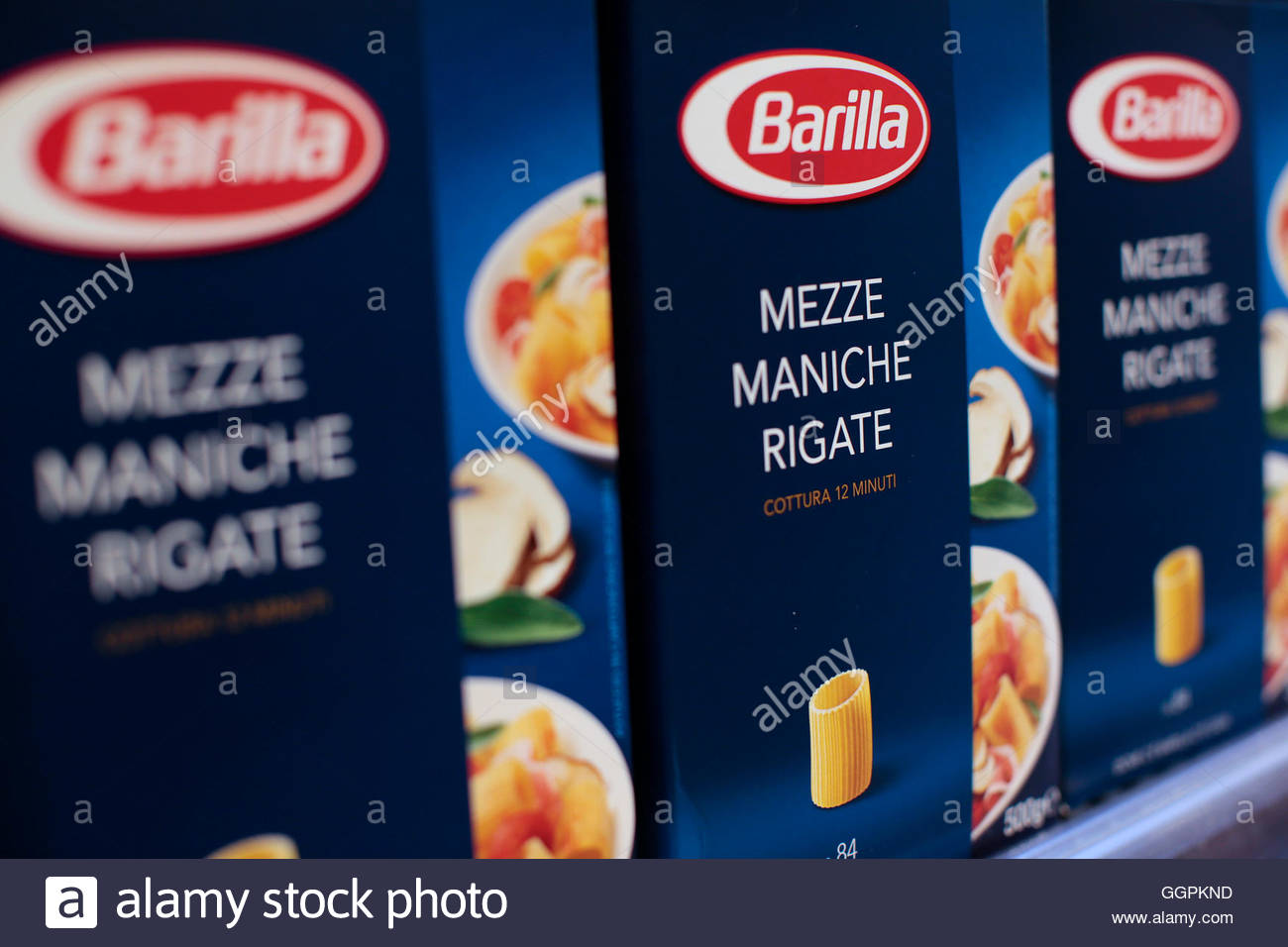 barilla stock photos barilla stock images alamy packs of barilla pasta are seen in a supermarket in rome 27 2013