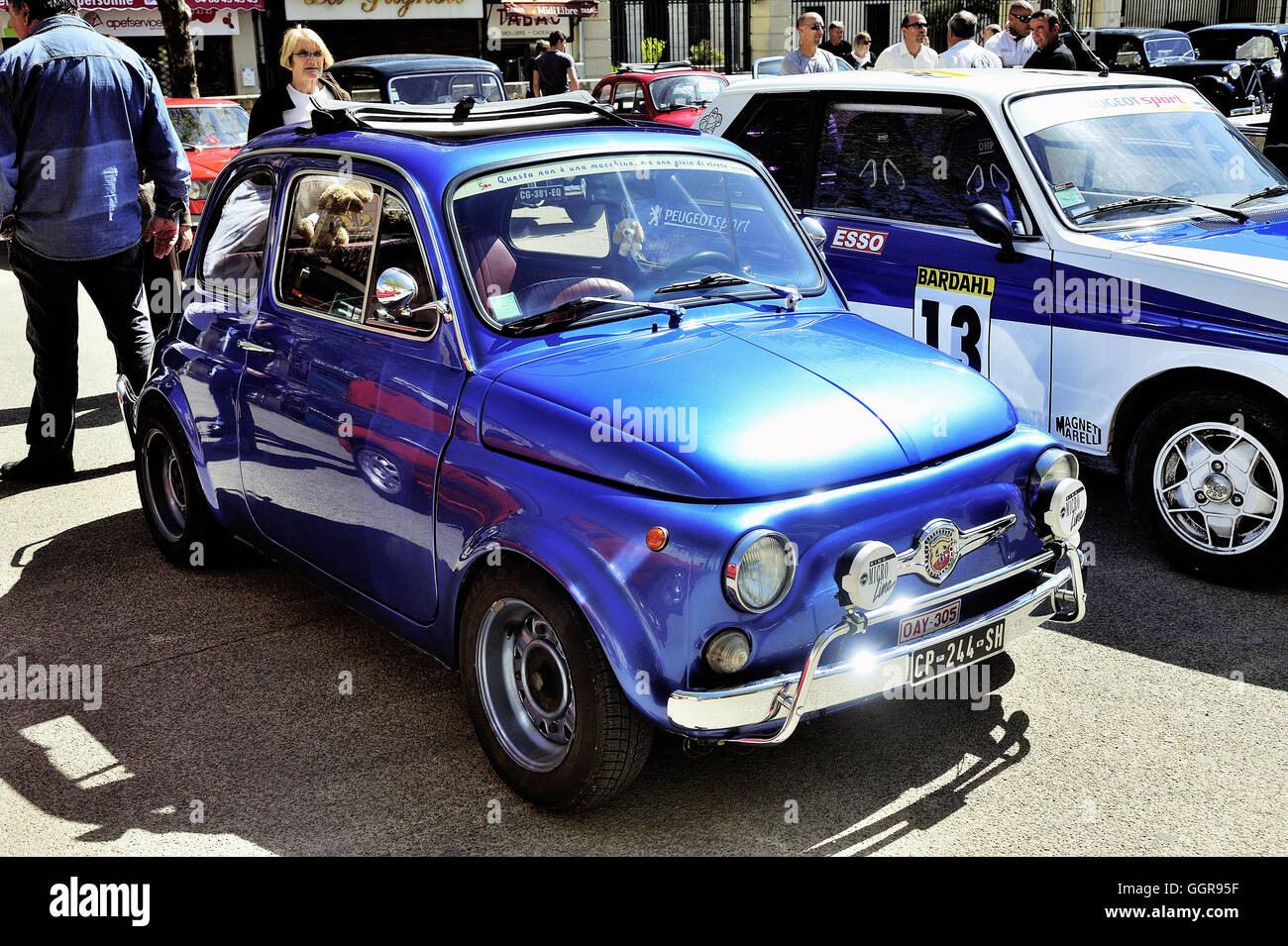 old fiat 500 abarth racing equipped photographed vintage. Black Bedroom Furniture Sets. Home Design Ideas