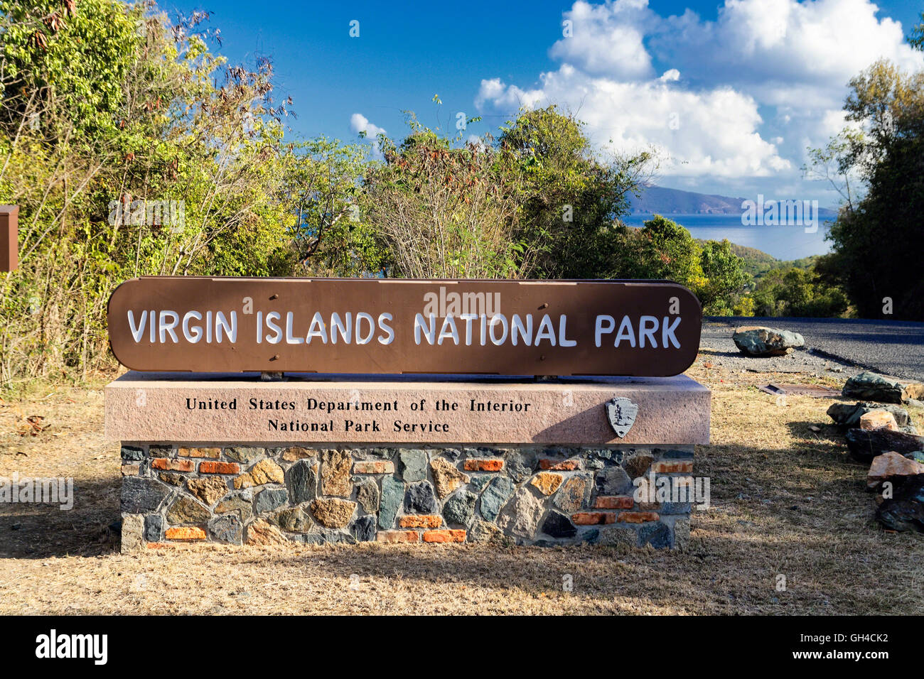 Us virgin islands stock photos us virgin islands stock images entrance sign of the virgin islands national park st john us virgin islands sciox Choice Image