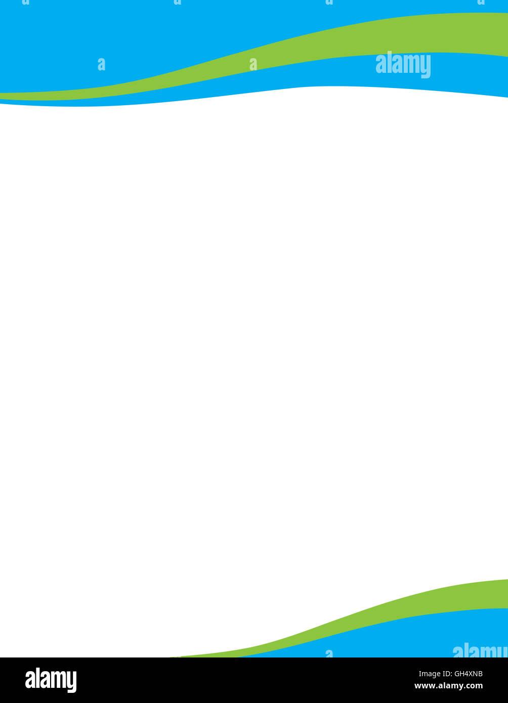 Blue Green Wave Professional Letterhead Template  Free Professional Letterhead Templates
