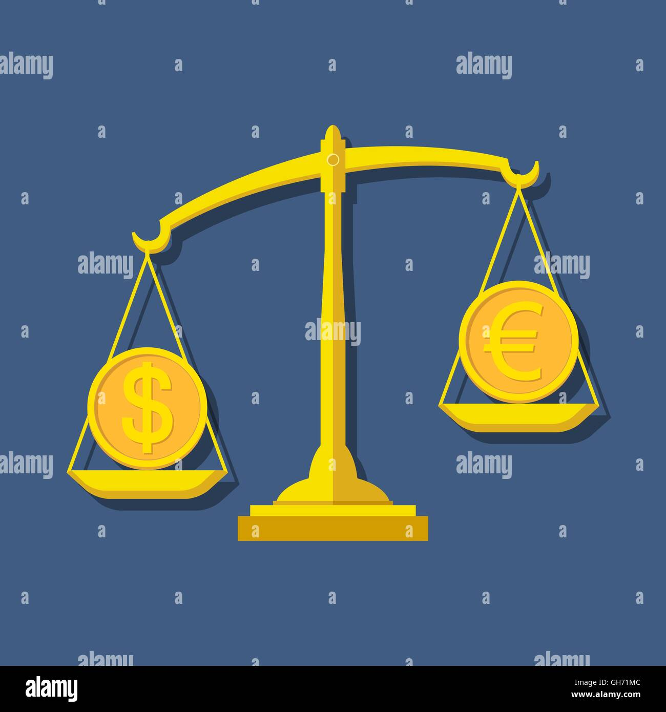 Scales with dollar and euro symbols foreign exchange forex scales with dollar and euro symbols foreign exchange forex concept vector illustration biocorpaavc Images