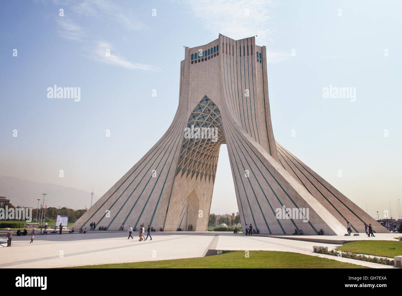 Azadi Tower, or The Freedom Tower of Tehran, Iran Stock Photo ...
