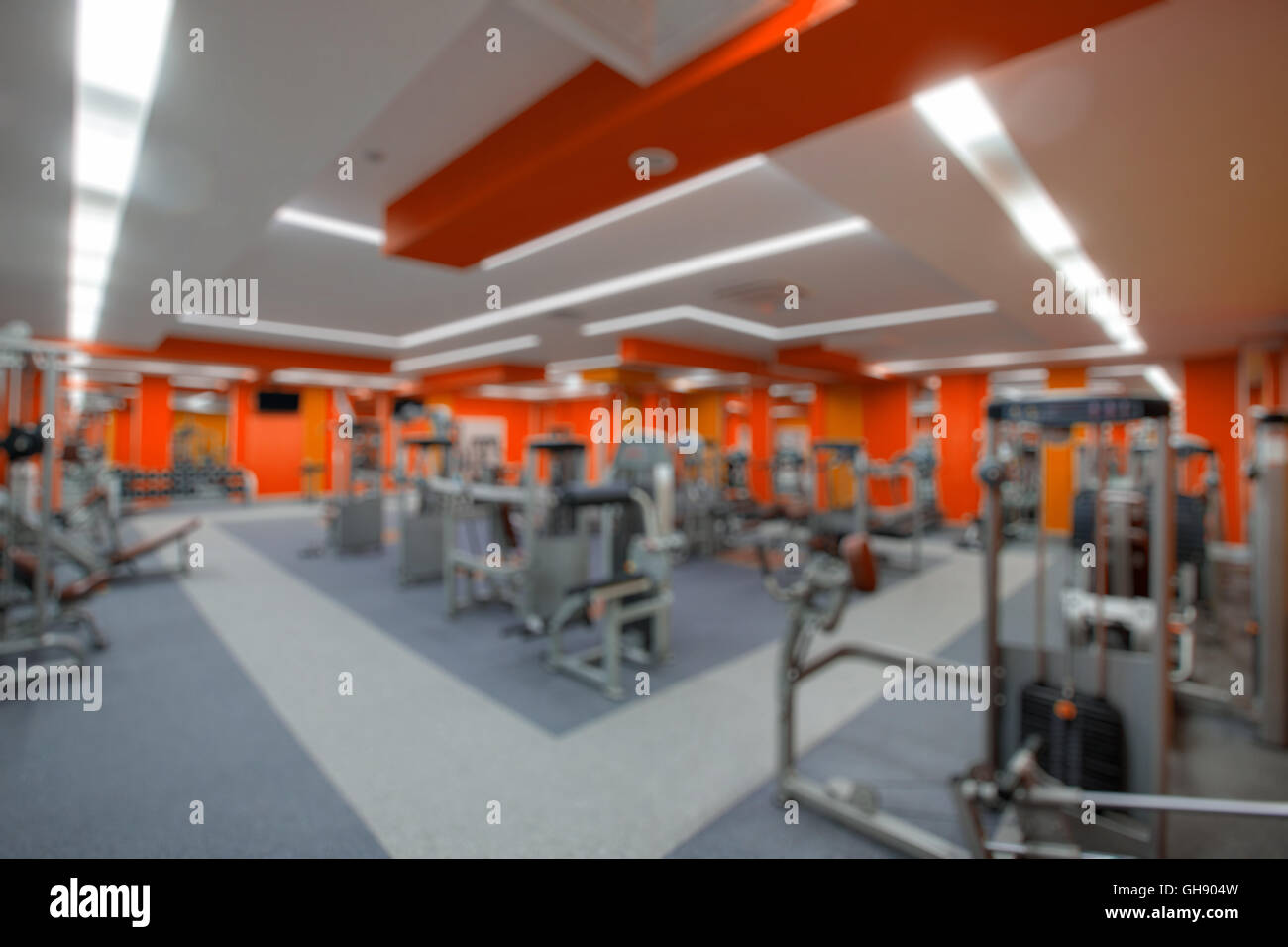Fitnessraum modern  Blur abstract background modern fitness center lifestyle with ...
