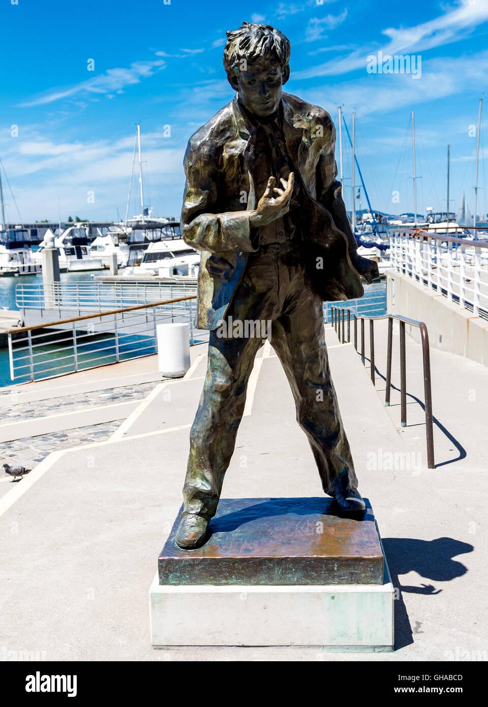 Jack London Statue In Jack London Square Oakland Ca