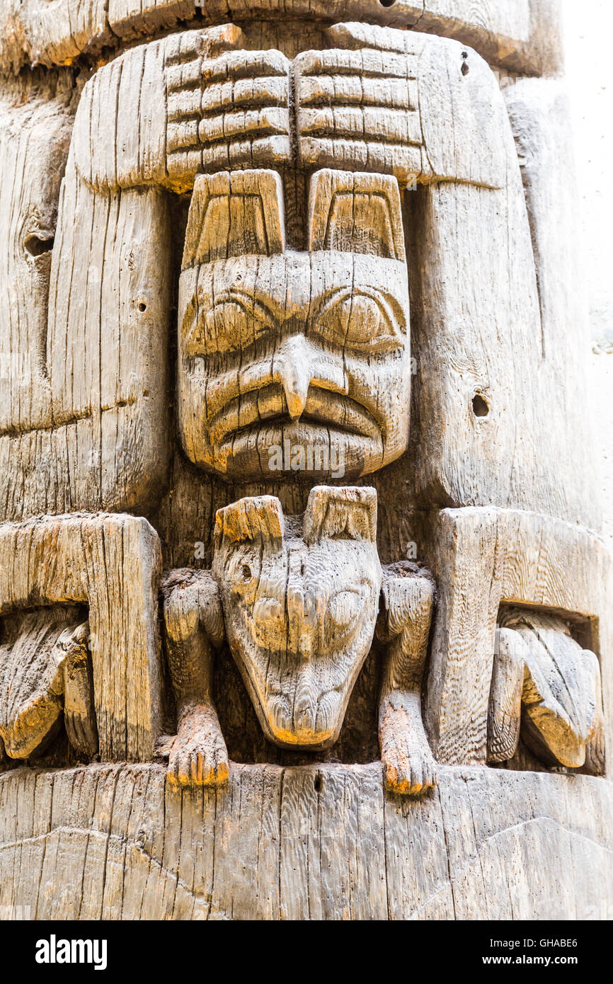Ancient Inuit Totem In Alaska Stock Photo, Royalty Free ...
