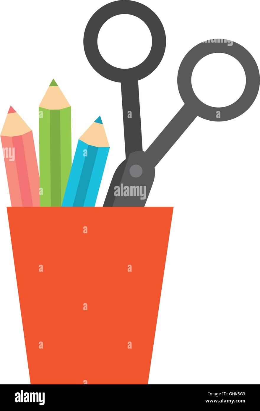 Cup Holder Stationary Office Supplies Icon Vector Graphic