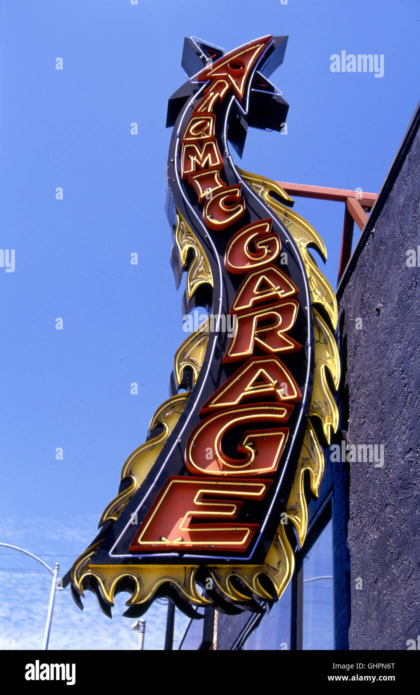 Atomic garage sign on melrose ave in los angeles ca stock photo atomic garage sign on melrose ave in los angeles ca biocorpaavc