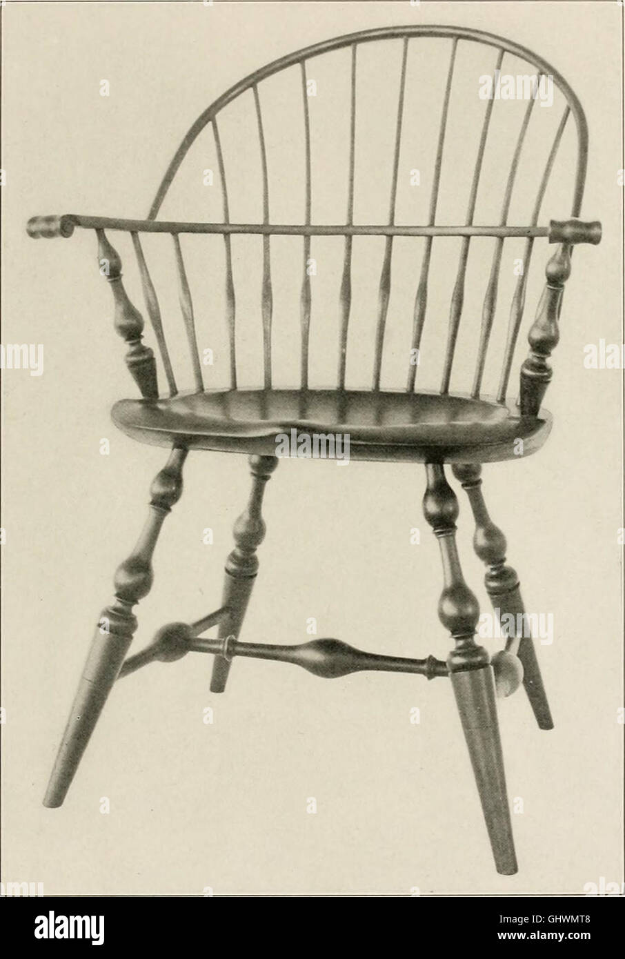 Stock Photo   Wallace Nutting Windsors   Correct Windsor Furniture. (1918