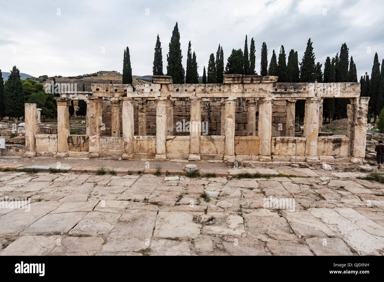 Hierapolis Pamukkale Ruins Turkey Stock Photo, Royalty Free Image: 114347005 ...