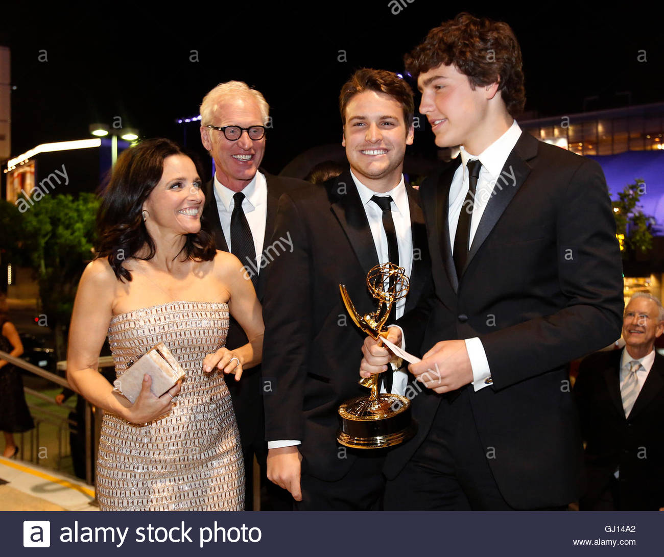 Actress Julia Louis-dreyfus, With Her Husband, Brad Hall, And ...