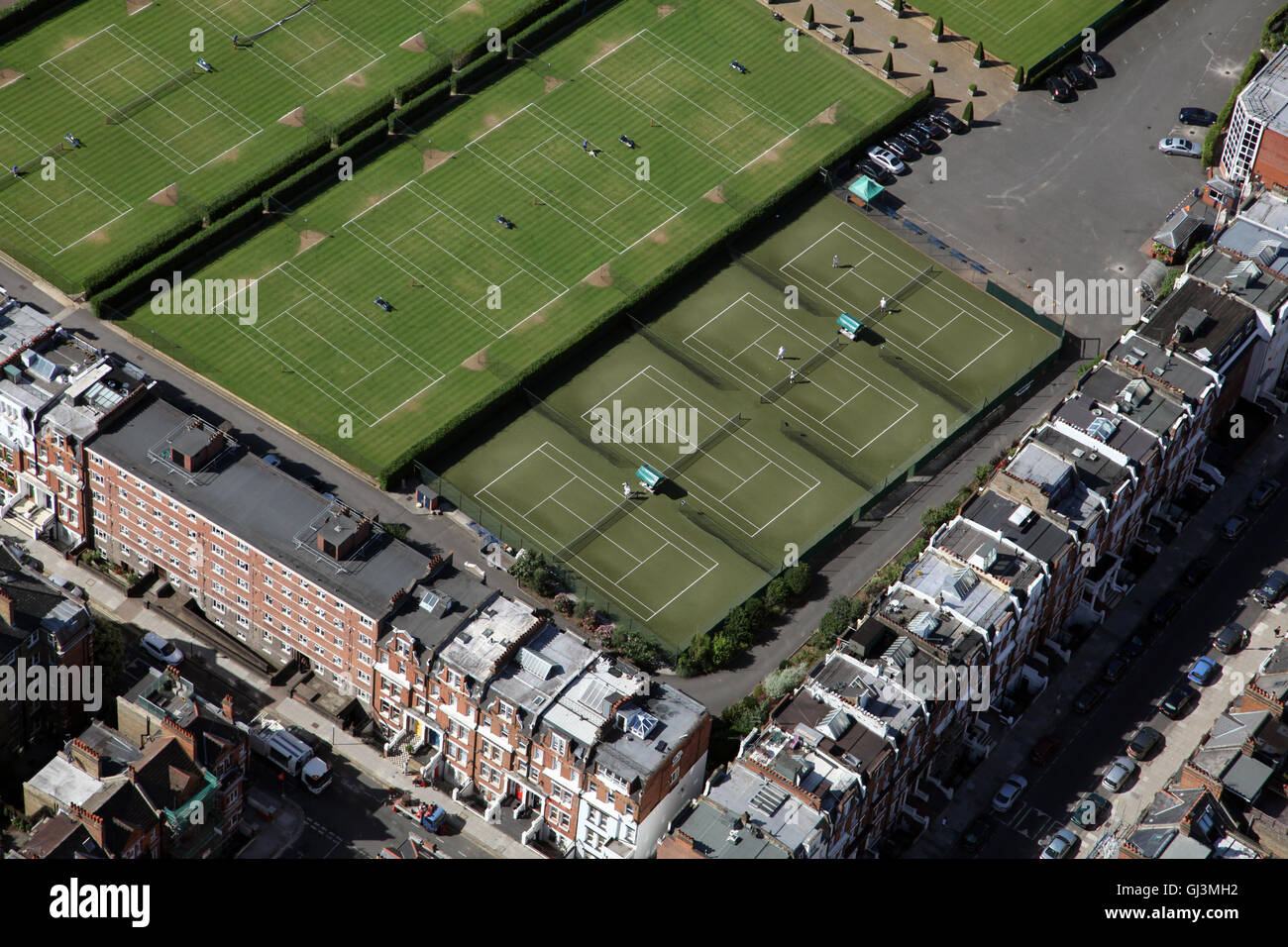 Queens Club Tennis >> aerial view of The Queens Club tennis courts in West ...