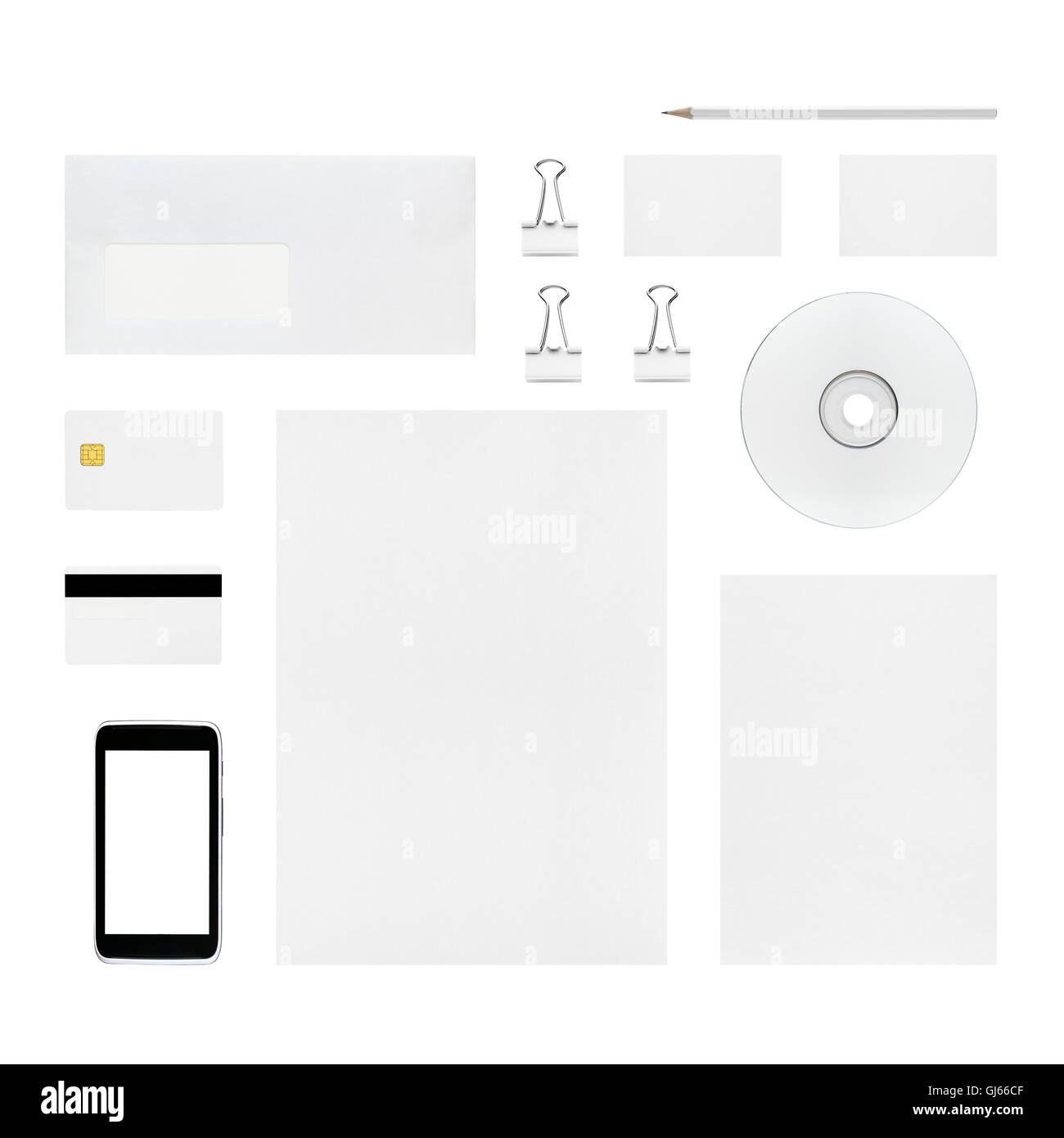 Isolated objects for branding identity - letterhead, business cards ...
