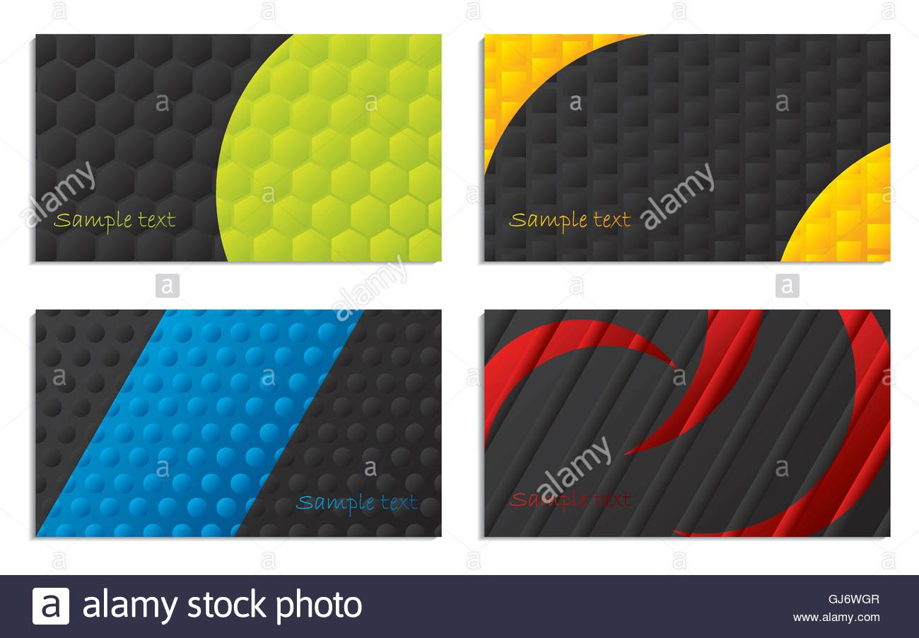 Black and colored business cards Stock Vector Art & Illustration ...