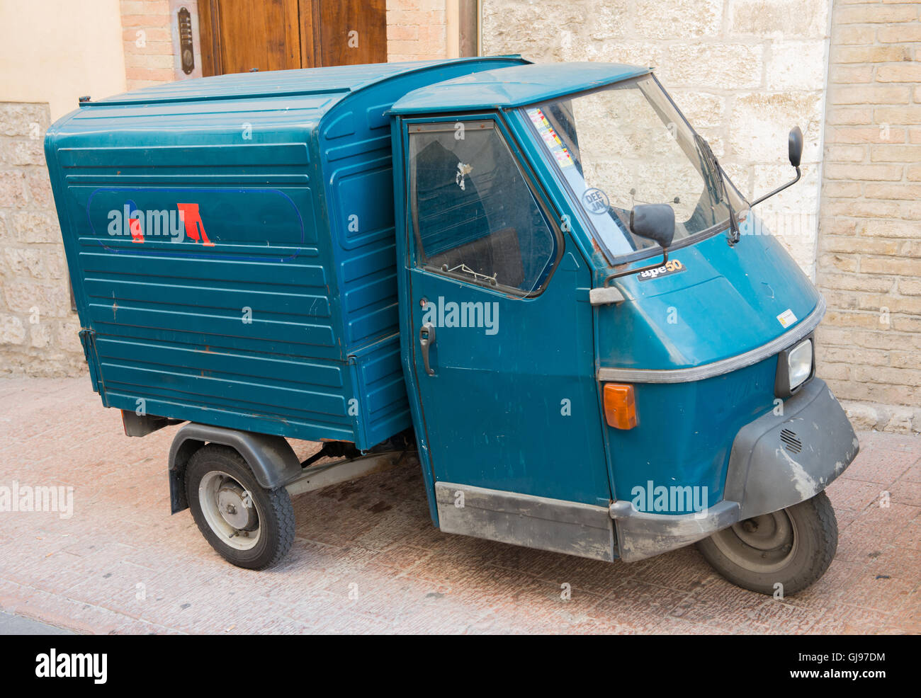 piaggio ape 50 three wheel van stock photo royalty free image 114529456 alamy. Black Bedroom Furniture Sets. Home Design Ideas