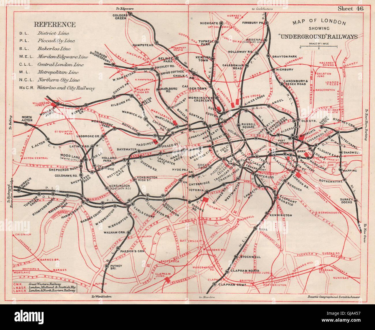 Underground Map In London LONDON UNDERGROUND MAP