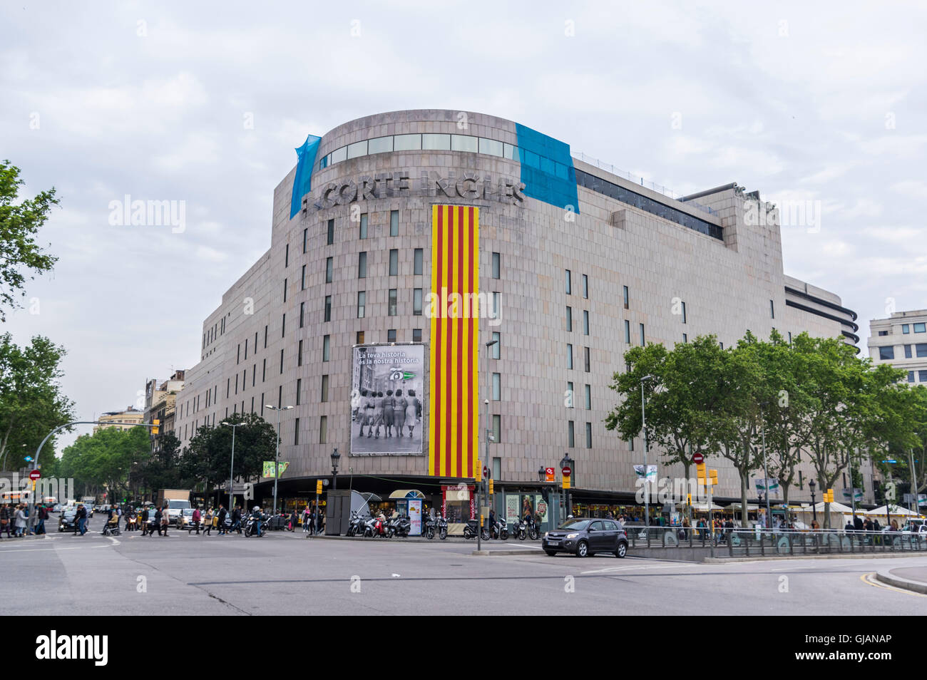 El corte ingl s department store building in barcelona catalonia stock photo royalty free - El corte ingles stores ...
