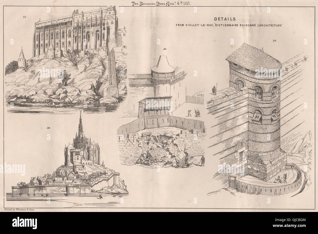 Details from viollet le duc 39 dictionnaire raisonn l for Architecture dictionnaire