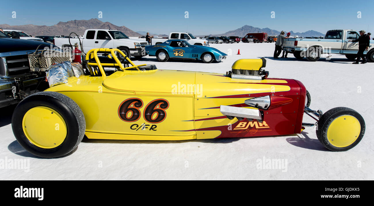 Wendover Utah Usa Aug Race Cars Are Staged For