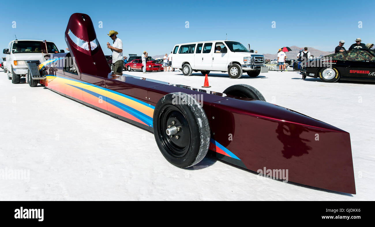 Wendover Utah Usa Aug A Race Car Is Staged For Its