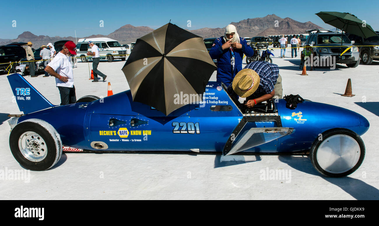 Wendover Utah Usa Aug A Race Car Is Prepped For Its