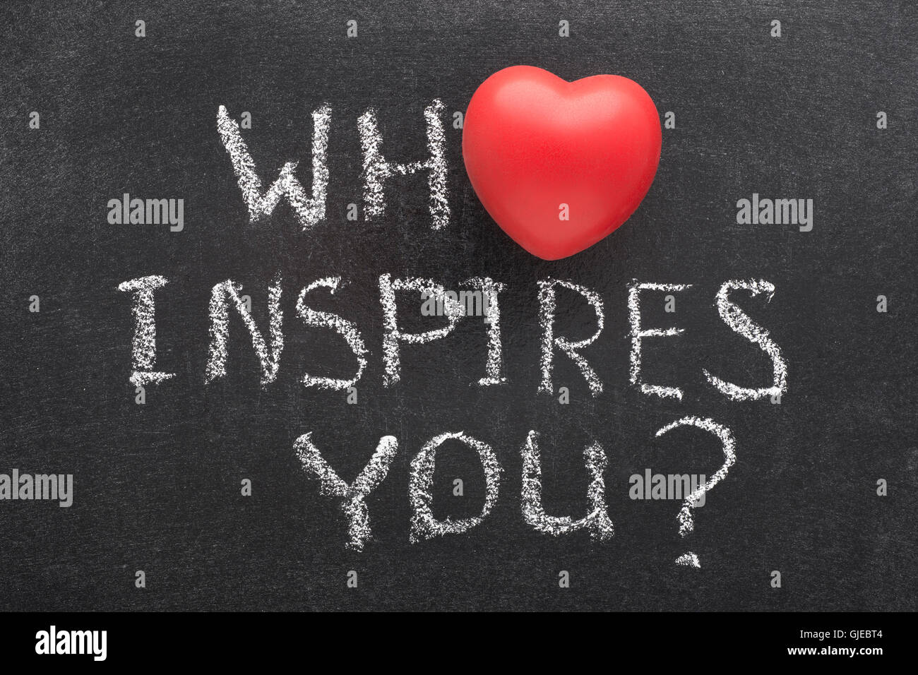 Who inspires you question handwritten on blackboard with heart who inspires you question handwritten on blackboard with heart symbol instead of o biocorpaavc