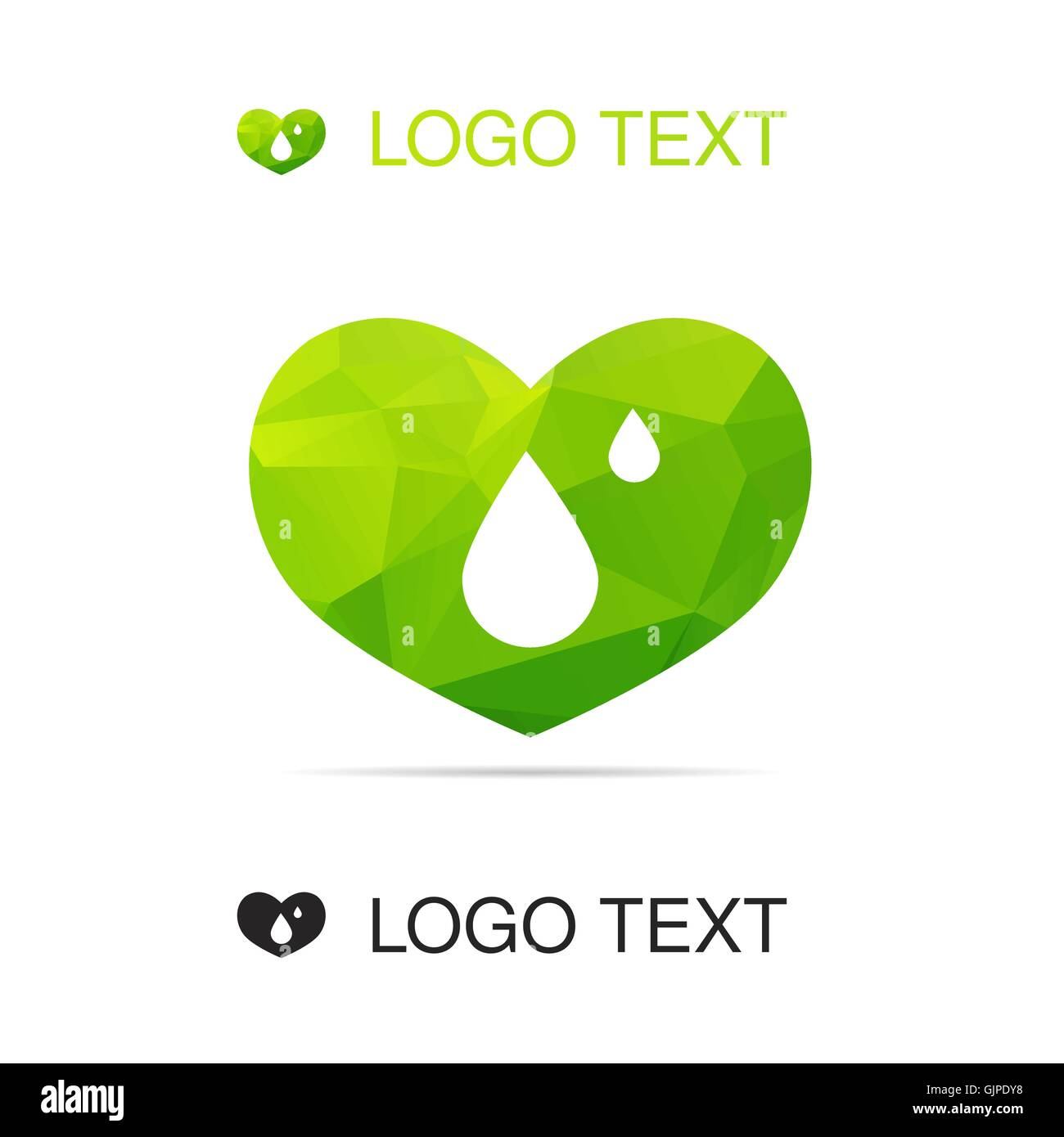 Triangle ecology water logo or icon with heart nature symbol triangle ecology water logo or icon with heart nature symbol drop sign vector biocorpaavc