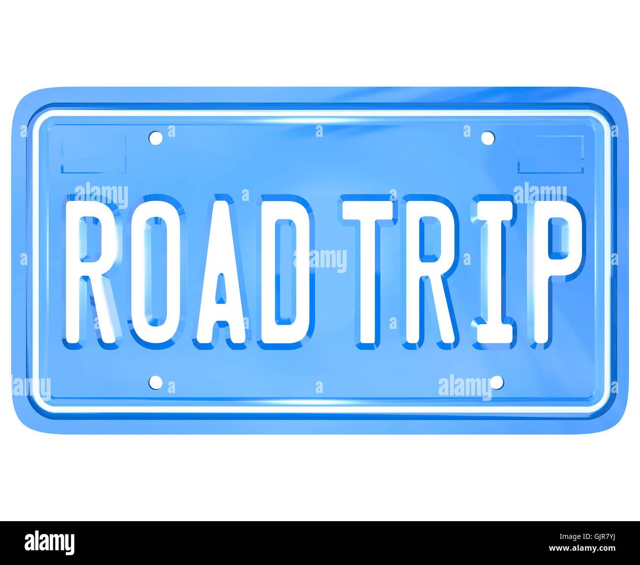 Road Trip Words On Vanity License Plate Holiday Travel