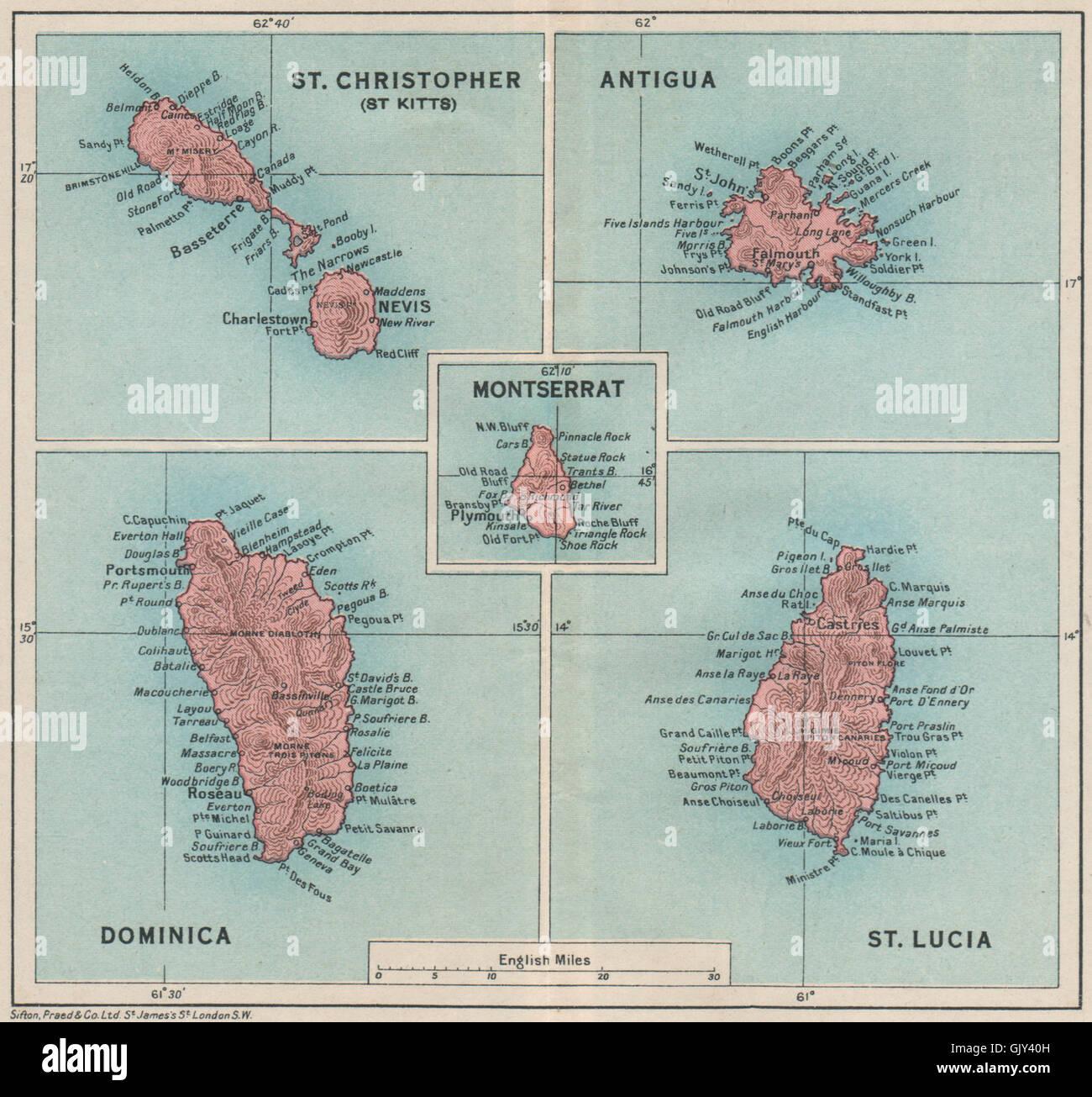 WEST INDIES Dominica St Kitts Antigua St Lucia Montserrat 1927