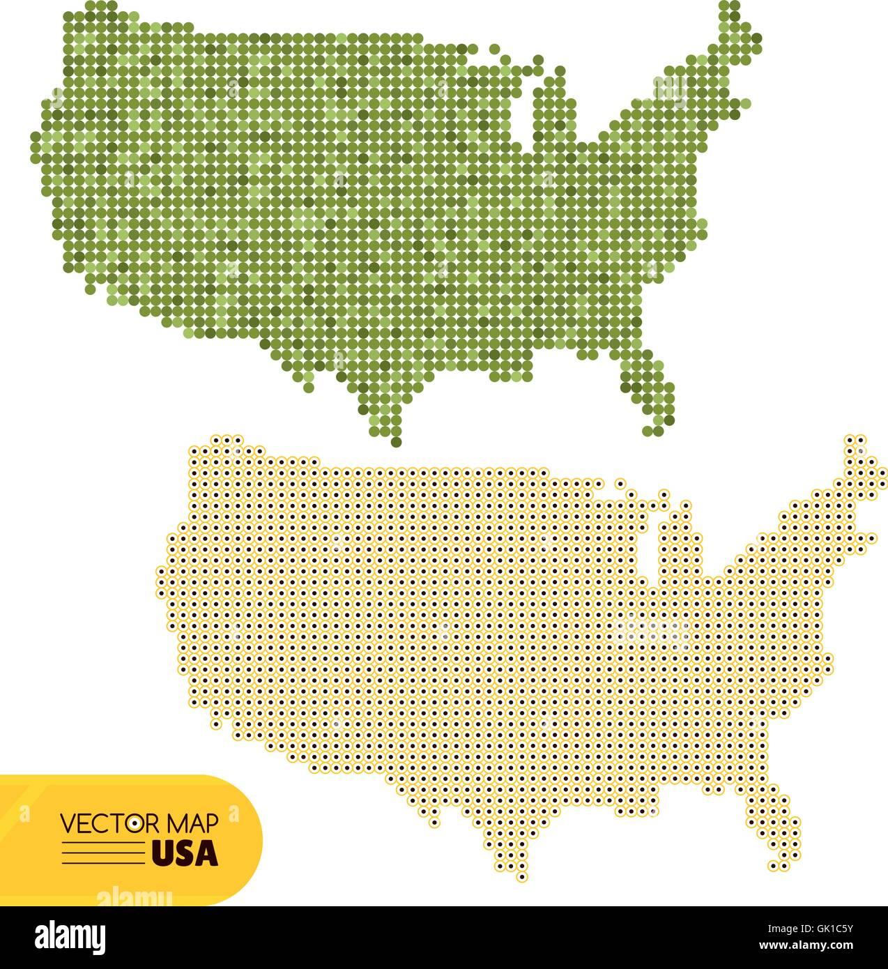 Usa Map Stock Vector Images Alamy - Map usa vector