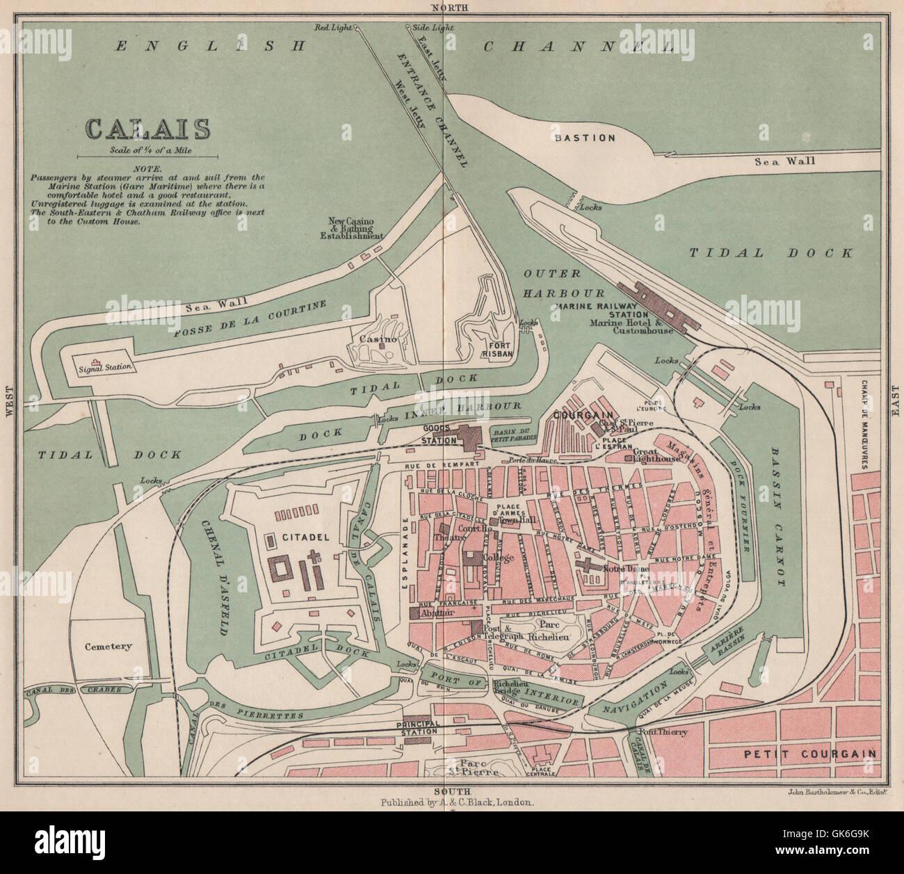 calais antique town city plan de la ville harbour port stock photo 115085199 alamy. Black Bedroom Furniture Sets. Home Design Ideas