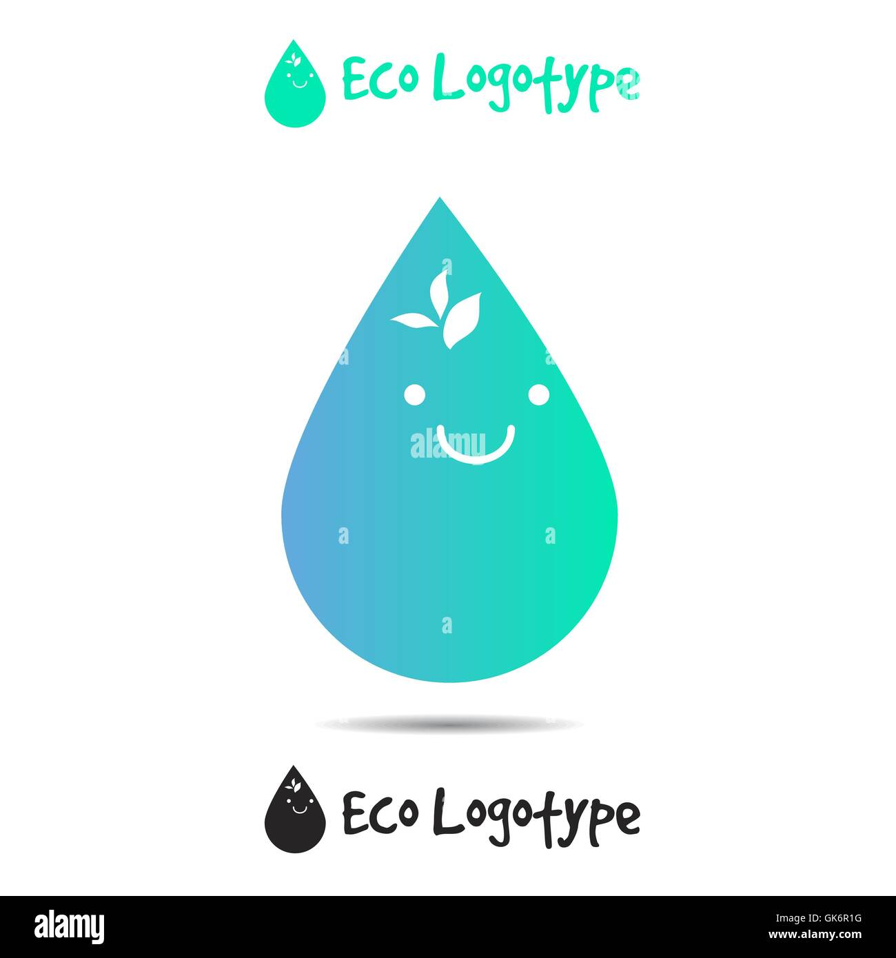 Vector ecology logo or icon in eps nature logotype water symbol vector ecology logo or icon in eps nature logotype water symbol with smile biocorpaavc
