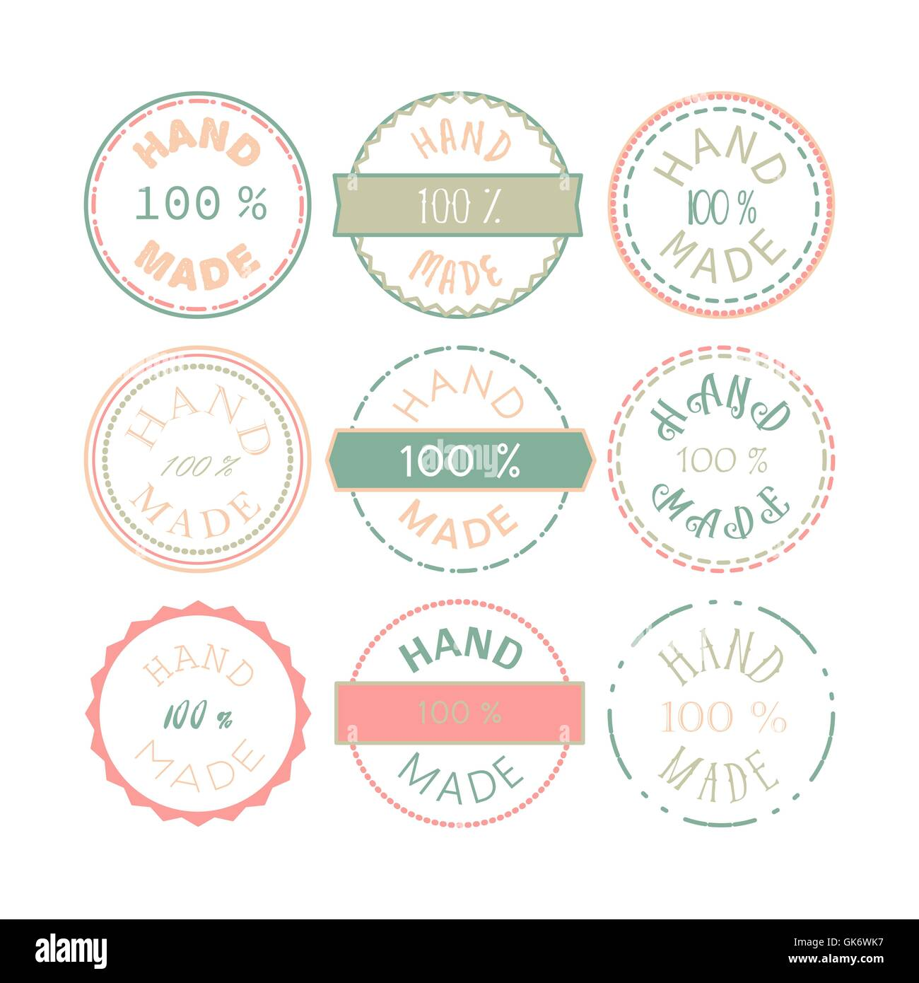 Badge template with 100 handmade product symbol vintage sticker badge template with 100 handmade product symbol vintage sticker with text 100 hand made 100 percents hand made design element buycottarizona Image collections
