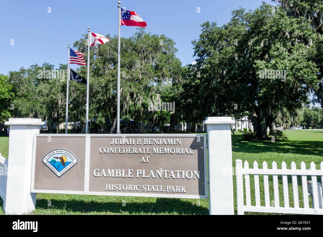 Florida ellenton gamble plantation historic state park judah p benjamin confederate veterans memorial civil war