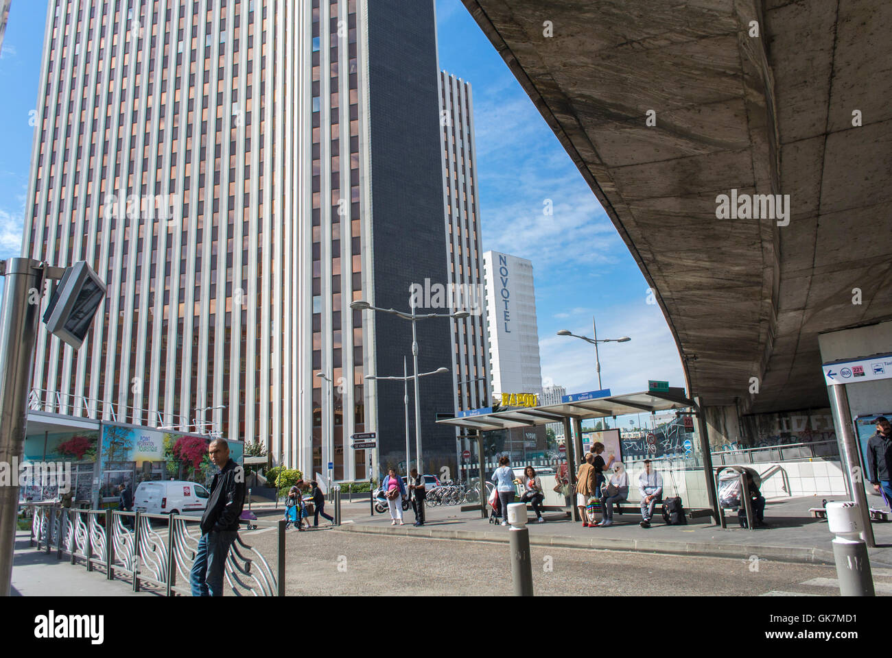 Modern Architecture France bagnolet, france, paris suburbs, street scene, modern architecture