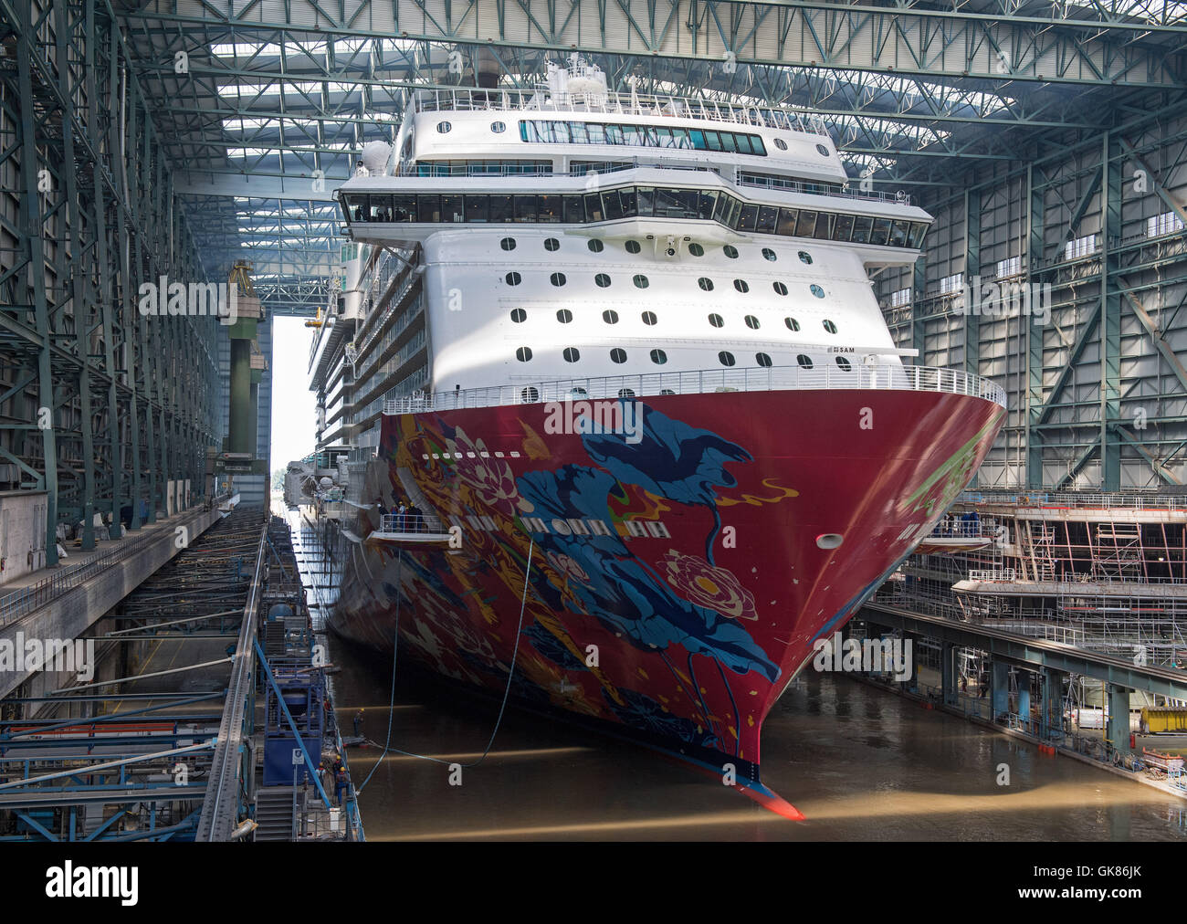 Papenburg Germany Th Aug The Youngest Cruise Stock - Cruise ship builders
