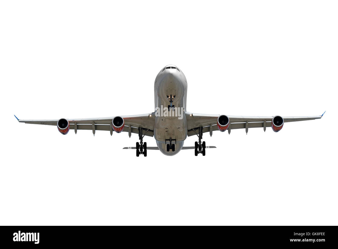 Airplane on white background Stock Photo, Royalty Free ...