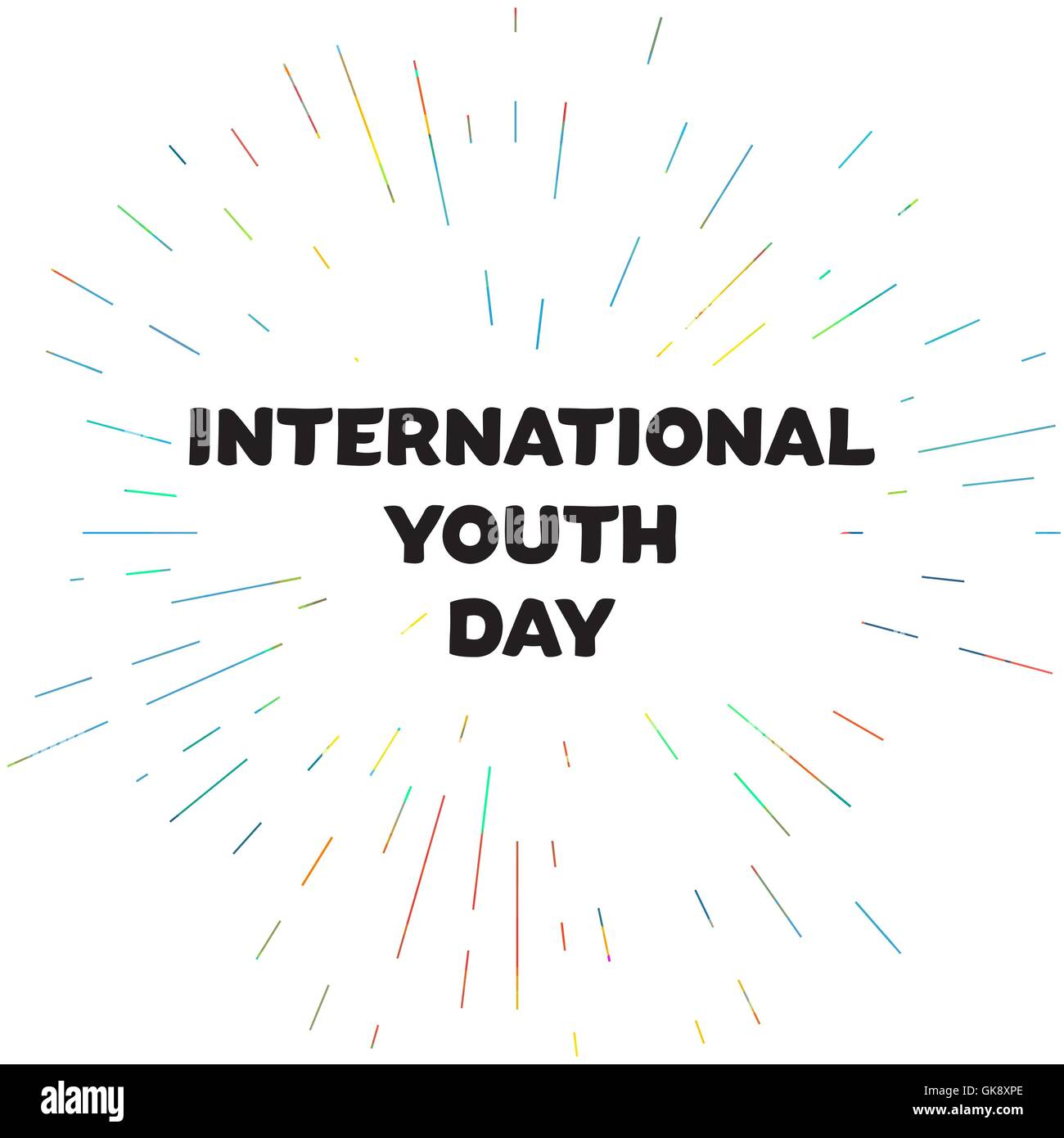 Vintage template card of international youth day for banner stock vintage template card of international youth day for banner brochure flyer greeting invitation cover design elements for p stopboris Gallery