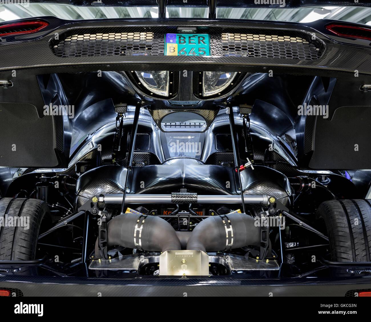 An Engine Inside The Car Koenigsegg Supercar Factory Angelholm