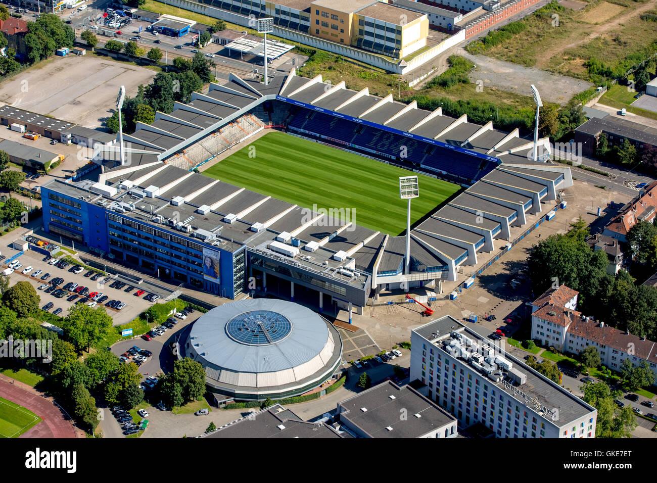Aerial view, Vonovia-Ruhrstadion, VfL Bochum stadium Bundesliga Stock Photo, Royalty Free Image ...