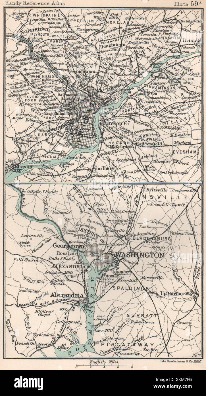 Environs of Washington DC Philadelphia BARTHOLOMEW 1904