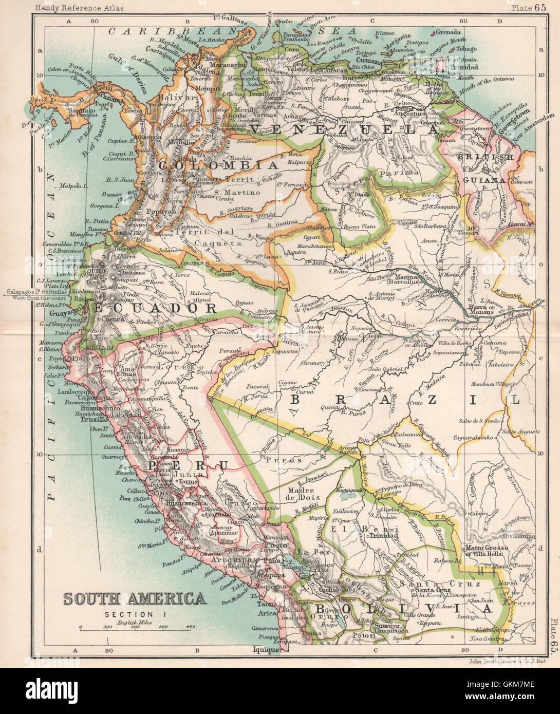 NW South America Amazonia Ecuador Colombia Venezuela Peru - Map of ecuador south america