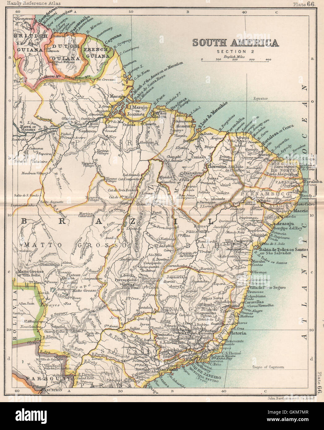 NE South America British Guiana Dutch Guiana French Guiana - South america french guiana map