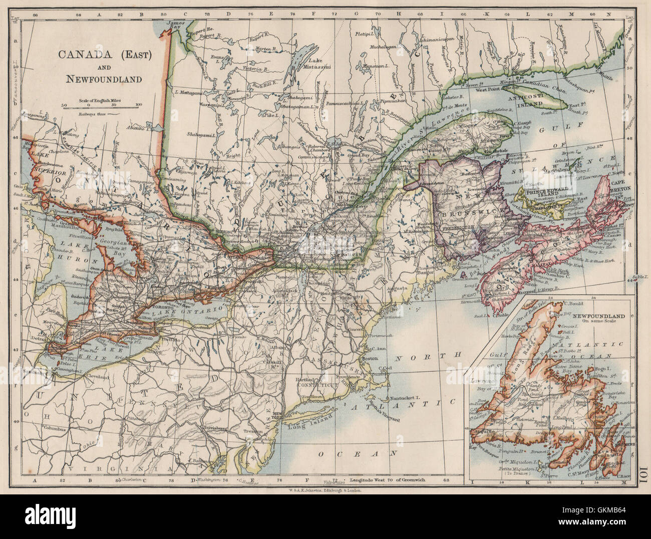 EASTERN CANADA. Ontario Quebec Maritime Provinces NB PE NS ... on map of northeastern quebec, map of longueuil quebec, map of manitoba, map of cornwall, valleyfield quebec, map of western quebec, map of south central us, new france quebec, map of montreal, map of gaspe quebec, map of quebec city, map of big bear area, map of saskatchewan, map of ontario, physical map of quebec, map of southern quebec, lachine quebec, map of quebec ca, outline map of quebec, map of quebec province,