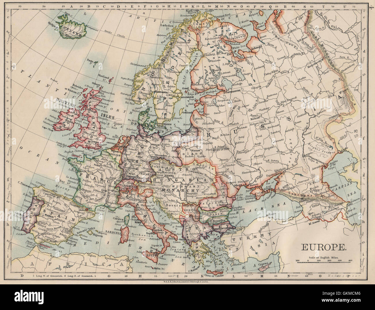 EUROPE POLITICAL AustriaHungary United Sweden Norway - Sweden map search