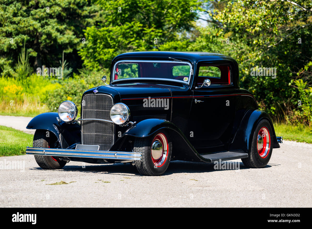 1932 Ford 3 Window Coupe Hot Rod Stock Photo, Royalty Free Image ...