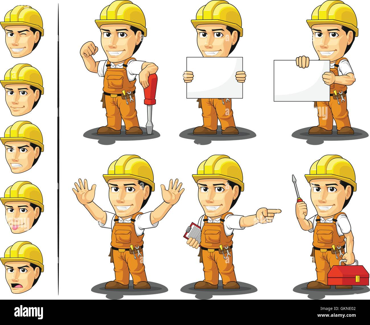 industrial construction worker mascot stock photos u0026 industrial