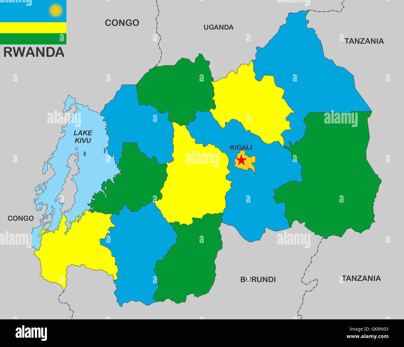 Rwanda Map Stock Photo Royalty Free Image Alamy - Rwanda map